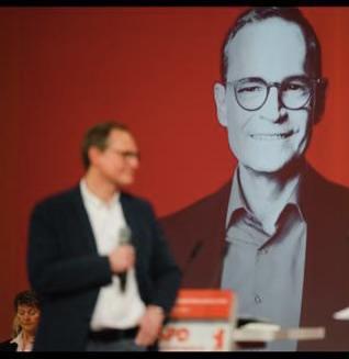 Berliner Spitzenkandidat Michael Müller während seiner Vorstellungsrede