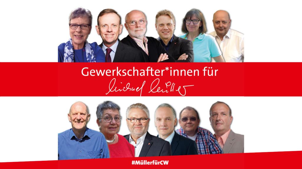 Gewerkschafter*innen unterstützen Michael Müller